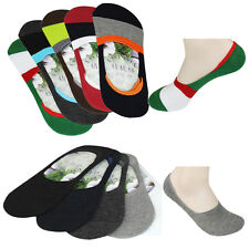 5 Pairs Men Cotton Socks Men's Invisible Boat Socks Nonslip Liner Socks Low Cut