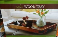 Rustic Wood Serviing Tray with handles for ottoman or table 970998