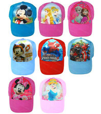 Girls Boys Disney Character Baseball Hat Childrens Kids Sun Peak Summer Cap