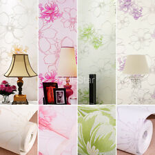 10M 3D HD Best Countryside Flower Plant fiber Non-woven Wallpaper New Products