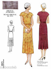 Vogue 2671 Vintage 1933 Semi-fitted A-line Pullover Dress & Belt Sewing Pattern