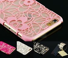 cute Pretty Lace Pattern Flower Design Plastic Case Cover For iPhone Model+ Film