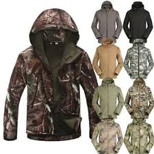 Soft Shell Men Military Outdoor Waterproof Hoody Jacket Hood Coat Windbreaker **