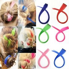 """2015 New Party Punk 21"""" Long Solid Colored Colorful Clip On In Hair Extensions"""