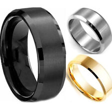 High Quality Stainless Steel Ring Band Titanium Silver Black Gold Men Wedding