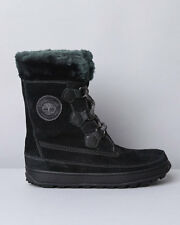 26612 Timberland Women's Mukluk Lace-up Boot with Faux Fur Lining Black