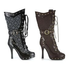 Steampunk Boots Adult Womens Victorian Shoes Cosplay Costume