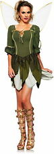 Sexy Rebel Tinkerbell Disney's Peter Pan Pixie Fairy Tales Costume Adult Women