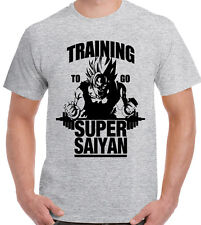 Formation pour aller super saiyan-T-shirt homme Dragon Ball Z Gym Bodybuilding goku