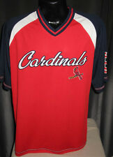 MLB St Louis Cardinals Crusader Pullover Jersey Shirt  Mens Sizes Nwt Majestic