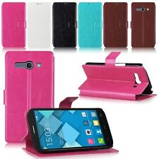 Custodia Case Flip Cover Libro per Alcatel One Touch POP C1 C3 C7 C9 Idol Alpha