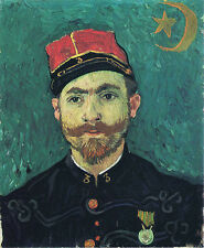 Vincent Van Gogh Portrait of Milliet Second Lieutnant of Zouaves Vintage Print