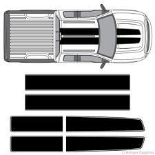Ford F-150 F-250 F-350 EZ Rally Racing Stripes 3M Vinyl Stripe Decals Graphics
