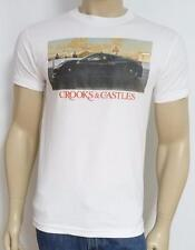 Crooks & Castles Ferrari Racing Graphic Tee Mens White T-Shirt New NWT