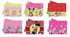 MINNIE MOUSE PLASTIC TABLECOVER Range of Designs (Tableware/Kids/Party/Birthday)