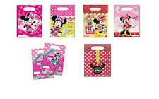 6 MINNIE MOUSE PARTY LOOT BAGS Range of Designs (Gift/Party/Kids/Birthday)