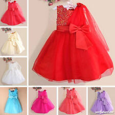 Bridesmaid Flower Girl Dress Evening Gown Party Princess Tulle Cotton Skirt 0-6Y