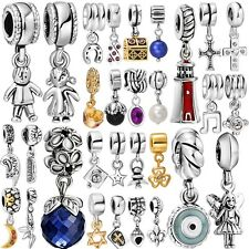 Fashion Silver Charms Beads fit Genuine 925 Sterling European Bracelet Necklace