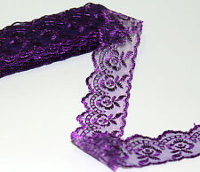 Beautiful!2yd/10yd high quality Handicrafts Embroidered Net Lace Trim Ribbon