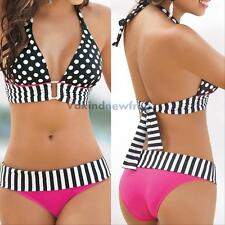 Summer Sexy Women Swimwear Bikini Set Bandeau Push-Up Padded Bra Swimsuit Beach