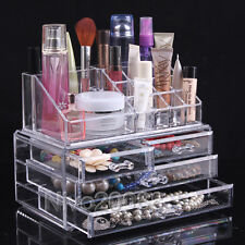 Acrylic Cosmetic Organizer Makeup case Drawer Storage Jewellery Box Holder Clear