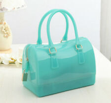 stylish womens summer Jelly candy colors handbag Satchel tote purse Pillow bags