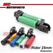 "M-Grip CNC 1"" Adjustable Riser Front Foot Pegs for Triumph Daytona T595 97 98"