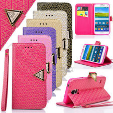 Luxury Foil Gold Embossing PU Leather Flip Wallet Case For Samsung Galaxy S Note