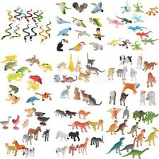 12 Plastic Wild/Farm Animals Zoo Jungle Crawl Insect Bug Model Figure Kids Toys