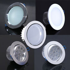 12W LED Ceiling Down light Recessed lamp Bulb Flood/Spot White/Warm Complete kit