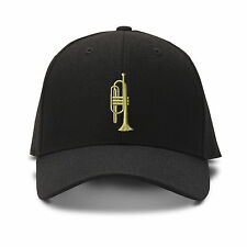 Trumpet 2 Embroidery Embroidered Adjustable Hat Baseball Cap