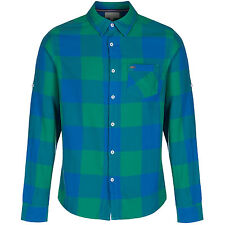 ADIDAS NEO CHECK SHIRT BLUE GREEN SIZE XS S M COTTON FASHION SALE CASUAL BUTTON