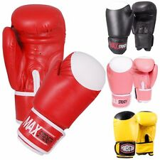 10oz Boxing Gloves Punch Bag Mitts Training Pads MMA Target Print Rex Leather