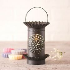 PUNCHED TIN WAX TART WARMER Handmade COLONIAL CHISEL Accent Light in 3 Finishes
