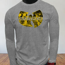 Rap Hip Hop Gza Rza ODB WU TANG CLAN COMICS Mens Gray Long Sleeve T-Shirt