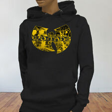 Rap Hip Hop Gza Rza ODB WU TANG CLAN COMICS Womens Black Hoodie