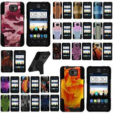 Case for ZTE Maven Shell Silicone Stand Image Designs Cute Cool