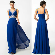 GK New Chiffon Long Formal Prom Party Bridesmaid Evening Dress Stock Size 8-20