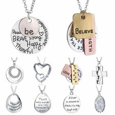 2017 Family Lover Friend Members Proverbs Love Letter Simple Pendant Necklace 1P