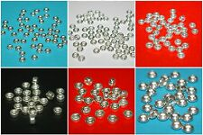 WHOLESALE LOTS 4mm, 5mm, 6mm Sterling Silver 925 Rondelle & Saucer Spacer Beads