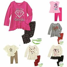 New Healthtex Baby Toddler Girl Knit Tunic Top & Legging Pant Set Outfit Cotton