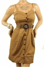 DEALZONE Gorgeous Sweetheart Neckline Dress S Small Women Brown Career