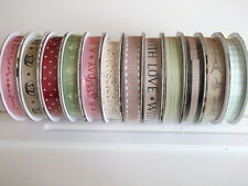 1 Reel Dovecraft Sweet Paris Ribbon - choice of design - grosgrain Lace gingham
