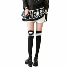 Student Solid Color Cotton JK School Uniform Long Over The Knee Socks Stocking