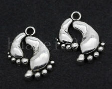 10/40/200pcs Tibetan Silver Little feet Jewelry Finding Charms Pendant 20x17mm