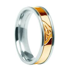 Solid 10ct Yellow Gold Irish Celtic Trinity Knot Ring Made In Ireland Gift Boxed