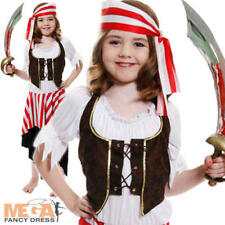 Girls Pirate Buccaneer Kids Book Week Fancy Dress Costume Ages 4,5,6,7,8,9,10,11