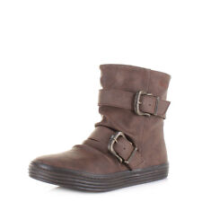 Womens Ladies Blowfish Octave Coffee Texas Flat Casual Ankle Boots Size