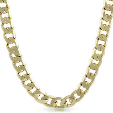 12mm Jumbo Gold Plated Curb Link Mens Chain Necklace
