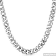10mm Sterling Silver Mens Miami Cuban Chain With Box Clasp